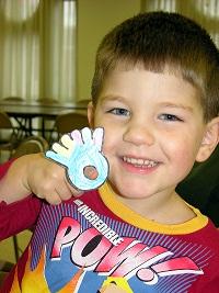 boy with finger turkey