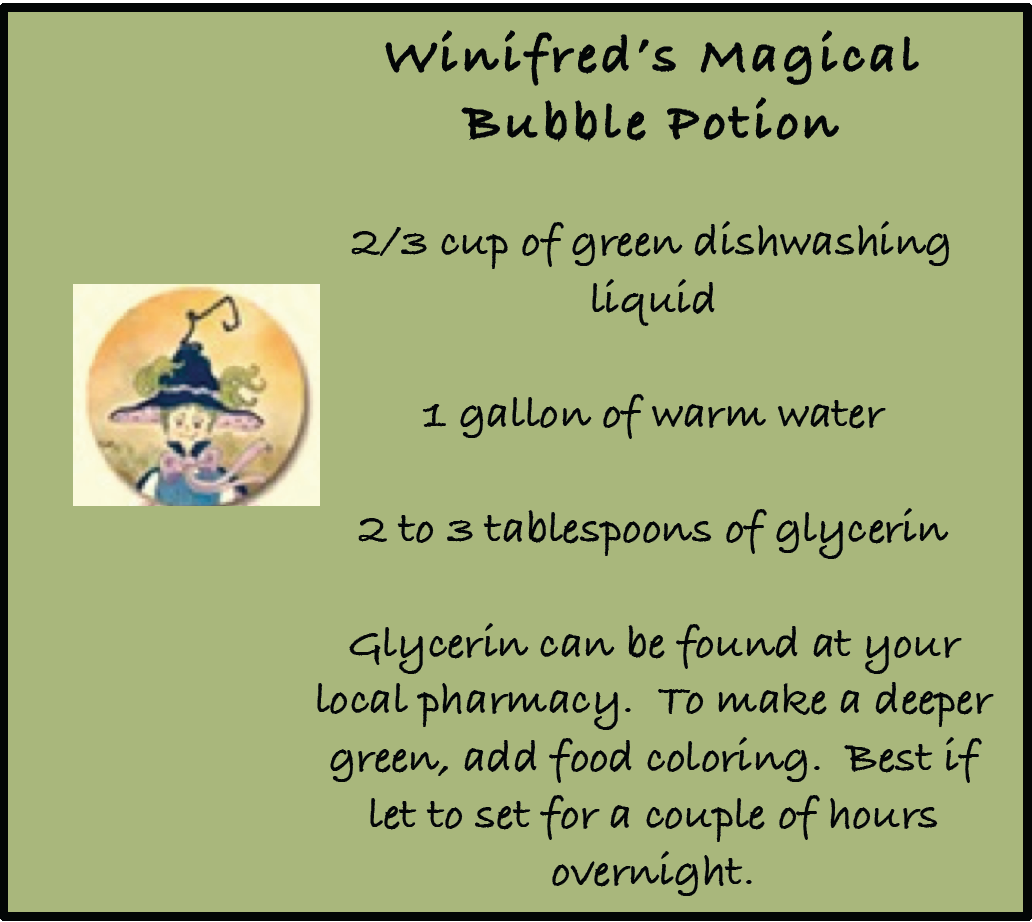 Winifred's Magical Bubble Potion - Blog (Retiring)